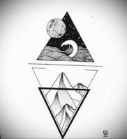 Фото тату геометрия эскизы 13.09.2019 №050 — tattoo geometry sketches — tattoo-photo.ru