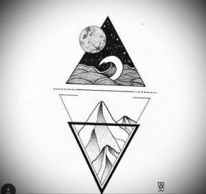 Фото тату геометрия эскизы 13.09.2019 №050 - tattoo geometry sketches - tattoo-photo.ru