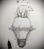 Фото тату эскизы легкие 13.09.2019 №007 — tattoo sketches light — tattoo-photo.ru