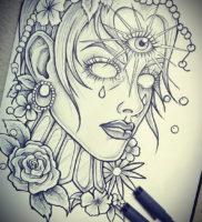 Фото тату эскизы легкие 13.09.2019 №008 — tattoo sketches light — tattoo-photo.ru