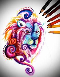 Фото цветные эскизы тату 13.09.2019 №012 - color tattoo sketches - tattoo-photo.ru
