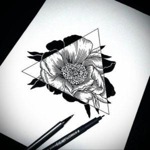 Фото эскизы тату цветы 13.09.2019 №012 - flower sketch designs - tattoo-photo.ru