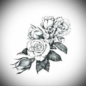 Фото эскизы тату цветы 13.09.2019 №013 - flower sketch designs - tattoo-photo.ru