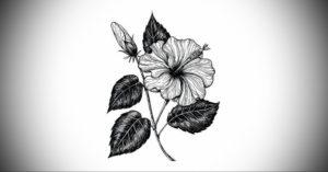 Фото эскизы тату цветы 13.09.2019 №014 - flower sketch designs - tattoo-photo.ru