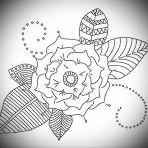 Фото эскизы тату цветы 13.09.2019 №015 - flower sketch designs - tattoo-photo.ru