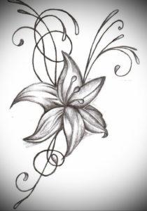 Фото эскизы тату цветы 13.09.2019 №016 - flower sketch designs - tattoo-photo.ru