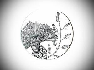 Фото эскизы тату цветы 13.09.2019 №021 - flower sketch designs - tattoo-photo.ru