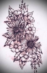 Фото эскизы тату цветы 13.09.2019 №022 - flower sketch designs - tattoo-photo.ru