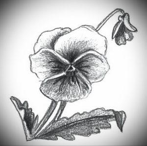Фото эскизы тату цветы 13.09.2019 №028 - flower sketch designs - tattoo-photo.ru