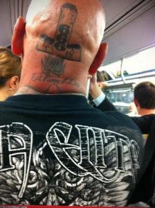 крест на затылке тату 24.09.2019 №004 -the back of the head tattoo- tattoo-photo.ru