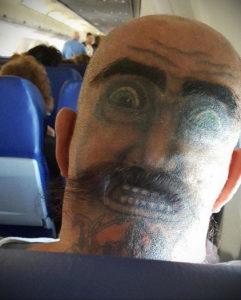 тату глаз на затылке 24.09.2019 №007 -the back of the head tattoo- tattoo-photo.ru