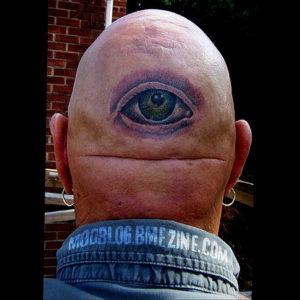 тату глаз на затылке 24.09.2019 №027 -the back of the head tattoo- tattoo-photo.ru
