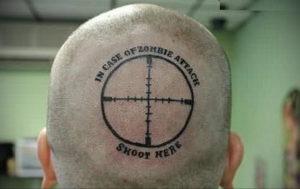 тату надписи на затылке 24.09.2019 №002 -the back of the head tattoo- tattoo-photo.ru