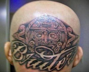 тату надписи на затылке 24.09.2019 №007 -the back of the head tattoo- tattoo-photo.ru