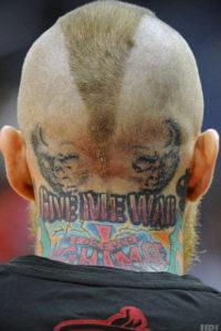 тату надписи на затылке 24.09.2019 №012 -the back of the head tattoo- tattoo-photo.ru