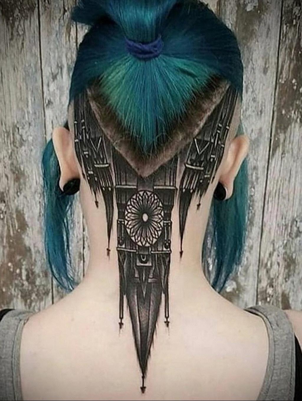 варианты женских татуировок на затылке с фото галушки будут готовы