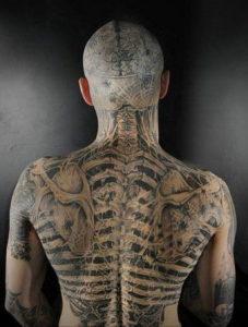 тату на затылке для мужчин 24.09.2019 №018 -the back of the head tattoo- tattoo-photo.ru