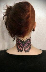 тату на затылке и шее 24.09.2019 №011 -the back of the head tattoo- tattoo-photo.ru