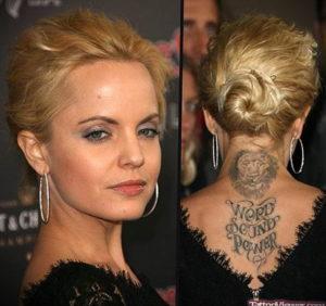 тату на затылке и шее 24.09.2019 №031 -the back of the head tattoo- tattoo-photo.ru