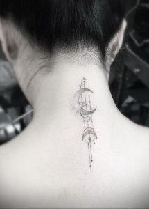 тату на затылке и шее 24.09.2019 №033 -the back of the head tattoo- tattoo-photo.ru