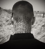 тату на затылке и шее 24.09.2019 №045 -the back of the head tattoo- tattoo-photo.ru