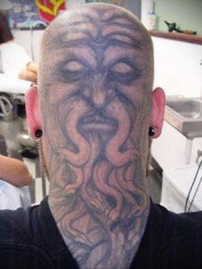 тату на затылке и шее 24.09.2019 №051 -the back of the head tattoo- tattoo-photo.ru