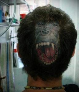 фото татуировки на затылке 24.09.2019 №013 -the back of the head tattoo- tattoo-photo.ru