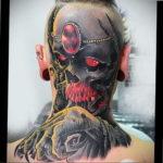 фото татуировки на затылке 24.09.2019 №027 -the back of the head tattoo- tattoo-photo.ru