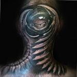 фото татуировки на затылке 24.09.2019 №028 -the back of the head tattoo- tattoo-photo.ru