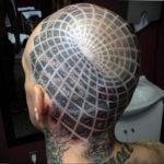 фото татуировки на затылке 24.09.2019 №036 -the back of the head tattoo- tattoo-photo.ru