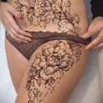 Мехенди на ляжках фото пример 14.02.2020 №021 -Mehendi on thighs- tattoo-photo.ru