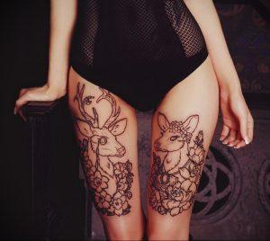 Мехенди на ляжках фото пример 14.02.2020 №198 -Mehendi on thighs- tattoo-photo.ru