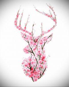 Фото вариант тату с деревом сакуры 09.02.2020 №010 -sakura tattoo- tattoo-photo.ru