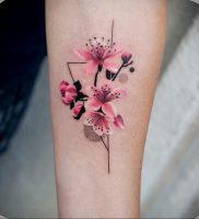 Фото тату цветок закуры 09.02.2020 №041 -sakura tattoo- tattoo-photo.ru