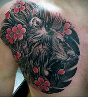 Фото тату цветок закуры 09.02.2020 №048 -sakura tattoo- tattoo-photo.ru