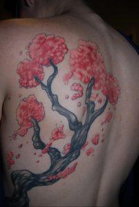 Фото тату цветок закуры 09.02.2020 №077 -sakura tattoo- tattoo-photo.ru