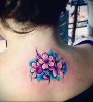 Фото тату цветок закуры 09.02.2020 №078 -sakura tattoo- tattoo-photo.ru