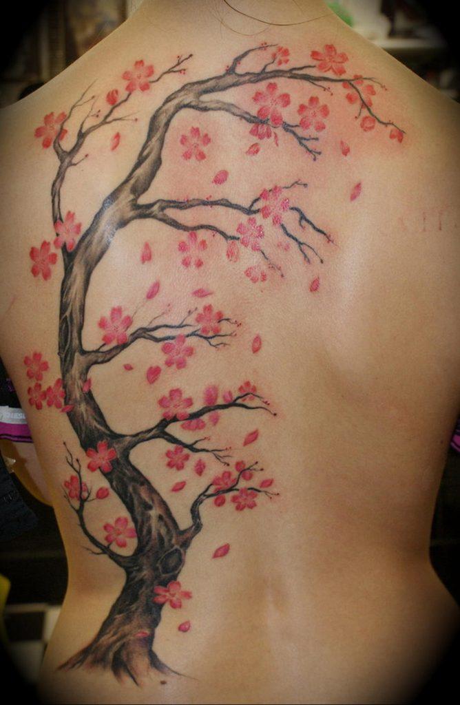 Фото тату цветок закуры 09.02.2020 №080 -sakura tattoo- tattoo-photo.ru