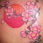 Фото тату цветок закуры 09.02.2020 №085 -sakura tattoo- tattoo-photo.ru