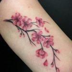Фото тату цветок закуры 09.02.2020 №086 -sakura tattoo- tattoo-photo.ru