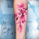 Фото тату цветок закуры 09.02.2020 №090 -sakura tattoo- tattoo-photo.ru