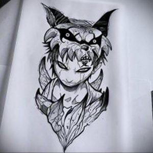 аниме тату эскизы 19.01.2020 №001 -anime tattoo sketches- tattoo-photo.ru