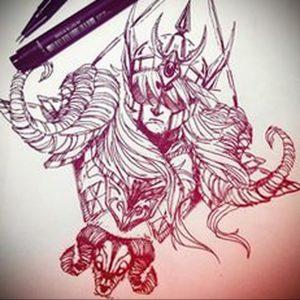 аниме тату эскизы 19.01.2020 №002 -anime tattoo sketches- tattoo-photo.ru
