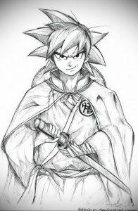 аниме тату эскизы 19.01.2020 №003 -anime tattoo sketches- tattoo-photo.ru