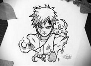 аниме тату эскизы 19.01.2020 №021 -anime tattoo sketches- tattoo-photo.ru