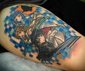 аниме тату 19.01.2020 №305 -anime tattoo- tattoo-photo.ru