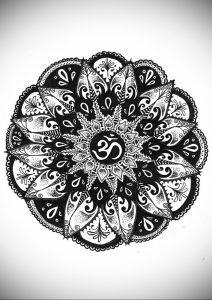 вариант эскиза для татуировки символ ОМ 08.02.2020 №001 -tattoo om- tattoo-photo.ru