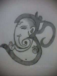 вариант эскиза для татуировки символ ОМ 08.02.2020 №002 -tattoo om- tattoo-photo.ru