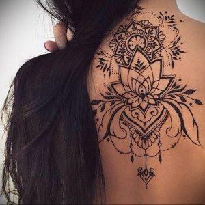 лотос-мандала тату фото пример 04.02.2020 №014 -mandala tattoo- tattoo-photo.ru
