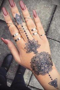 лотос-мандала тату фото пример 04.02.2020 №018 -mandala tattoo- tattoo-photo.ru